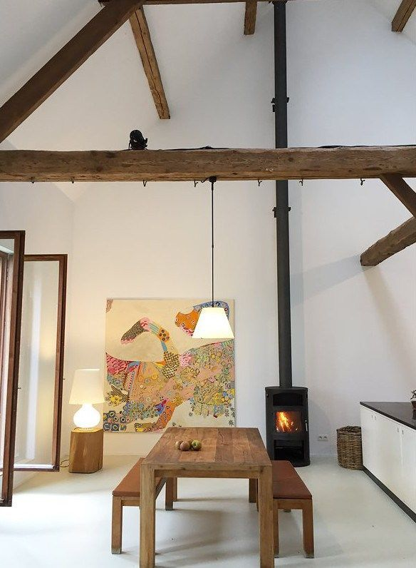 La Renovation D Une Grange En Belgique Planete Deco A Homes World Zimmer Zimmer Ideen Dachboden