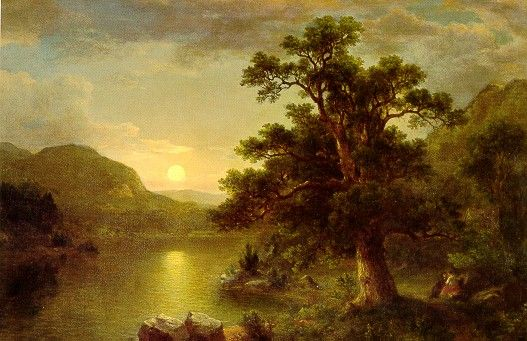 The Trysting Tree, 1868 Oil on canvas by Asher Brown Durand