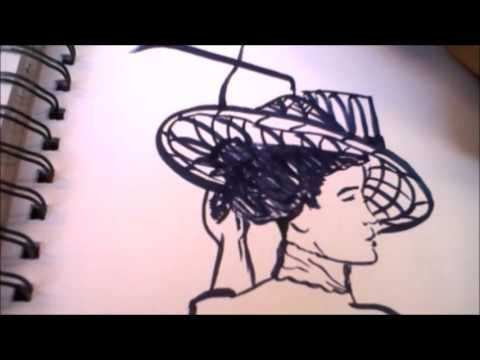 Lady By The Water Speed Marker Drawing