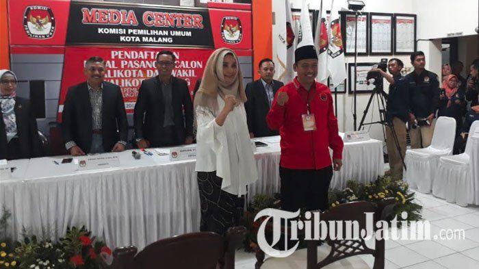 Ketua Nasdem Kota Malang Tak Hadir Saat Nanda-Wan Edi Daftar ke KPU