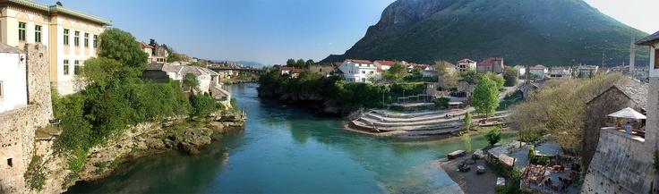 Mostar köprüsünden bakış / Bosna Hersek