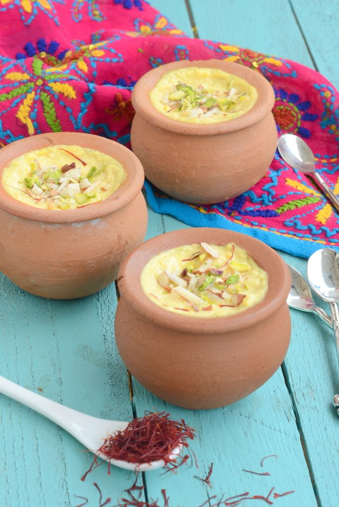 Kesar rabdi. An Indian dessert made by reducing milk with saffron. delicious. everyday musing