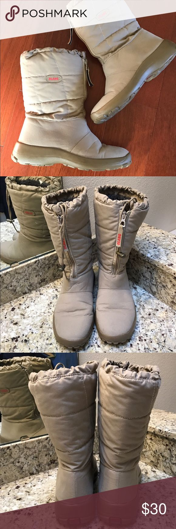 Olang Winter Boots Viola Beige Great winter boots! Comply and cozy, beige color goes with everything! No flaws like new! Olang Shoes Winter & Rain Boots