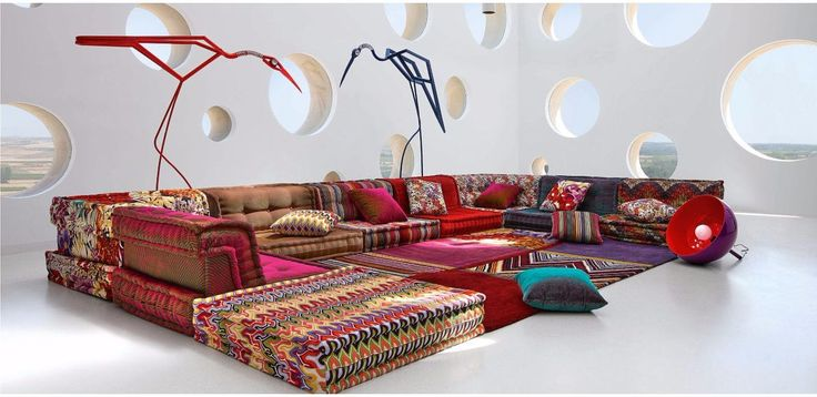 Divano modulare / moderno / in tessuto / multiposto MAH JONG by Hans Hopfer ROCHE BOBOIS