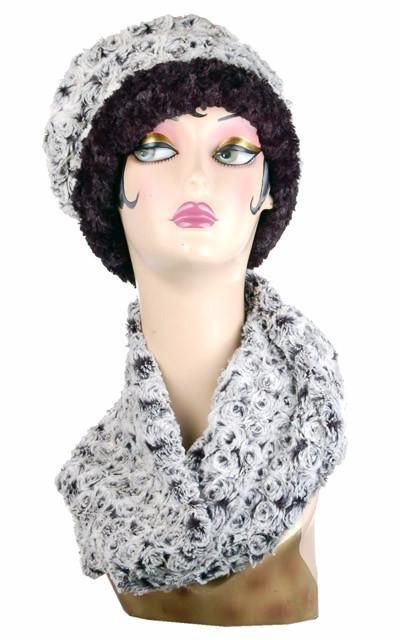 53b58377a0535e Neck Warmer - Rosebud Faux Fur - Rosebud Black - Scarves - Pandemonium  Millinery #pandemoniummillinery #shoppandemonium #gofaux  #pandemoniumhatsseattle