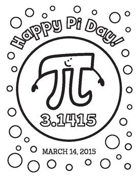 Pi Day (3.14) Coloring Page   Real life math, Online math ...