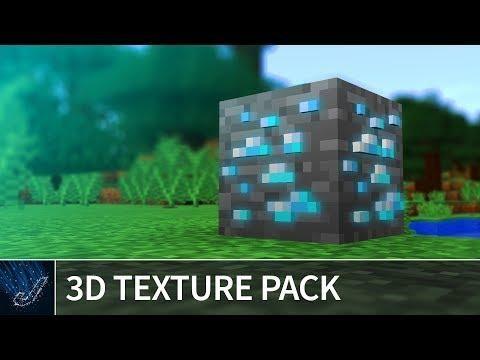 Minecraft 113 - 3D TEXTURE PACK - Default 3D Resource Pack For