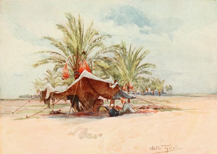 Tyndale, Walter (1855-1943) - Below the Cataracts 1907, A Bedawi tent. #nile, #egypt, #africa