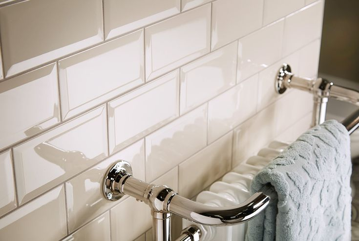 Taupe bathroom wall brick tiles #bathroomfurniture #tiles #myutopia