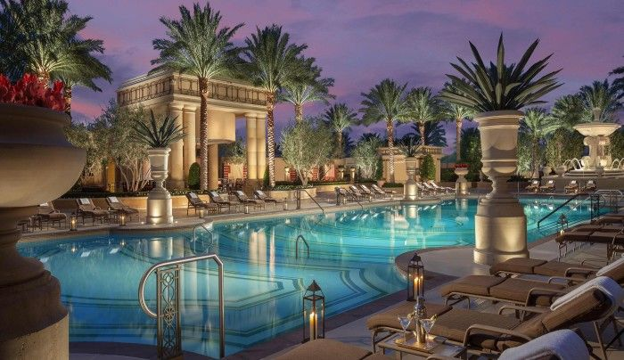 The Venetian is one of the biggest 5-star hotels in the world with 4,049 suites. Five pools at this hotel, some of them are reproduction of Italy, will provide you with everything you need for relaxed vacation.