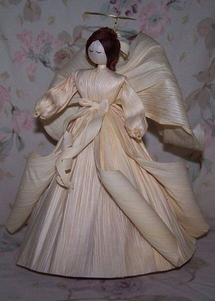 Corn Husk Angel by MariesCornHuskDolls on Etsy, $40.00