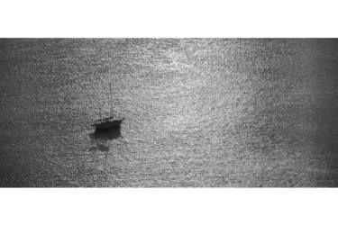 "Saatchi Art Artist Alan Wycheck; Photography, ""Boat on textured water"" #art"