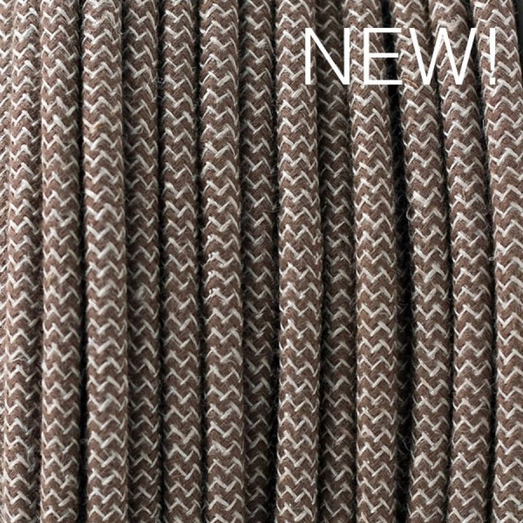 Marron ZigZag Retro Cable Textil