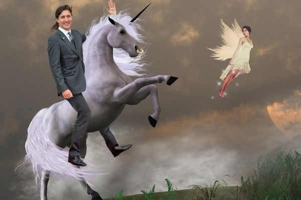 Justin Trudeau Riding a Unicorn Is the Most Important Spot the Difference You Will Ever See