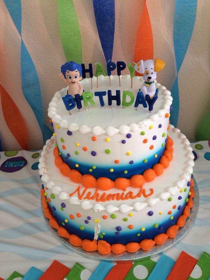 Nehemiah S 2nd Birthday Party Cake Bubble Guppies