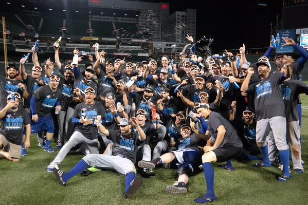 Blue Jays clinch first AL East title since 1993