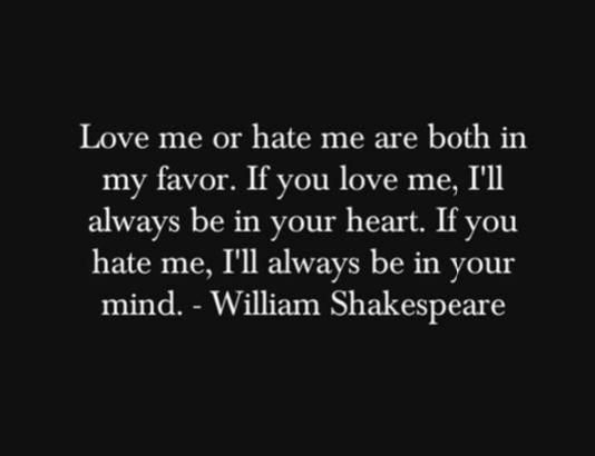 Wonderful Shakespeare Quote about life and love.