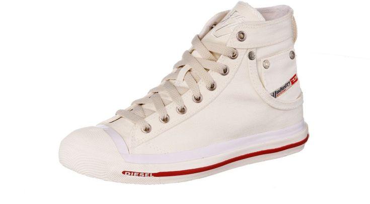 DIESEL - Exposure - Sneaker Damen - weiß Schuhe Sneaker Gr.38