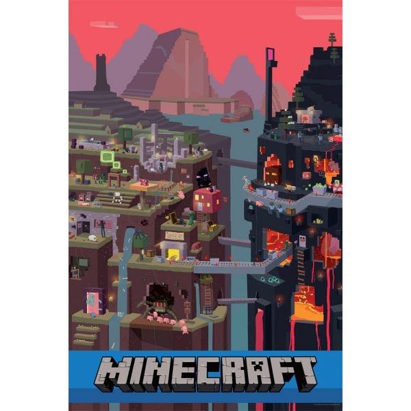 Minecraft Poster Sam Cube 61 x 92 cm, J!NX, Jogos de Vídeo