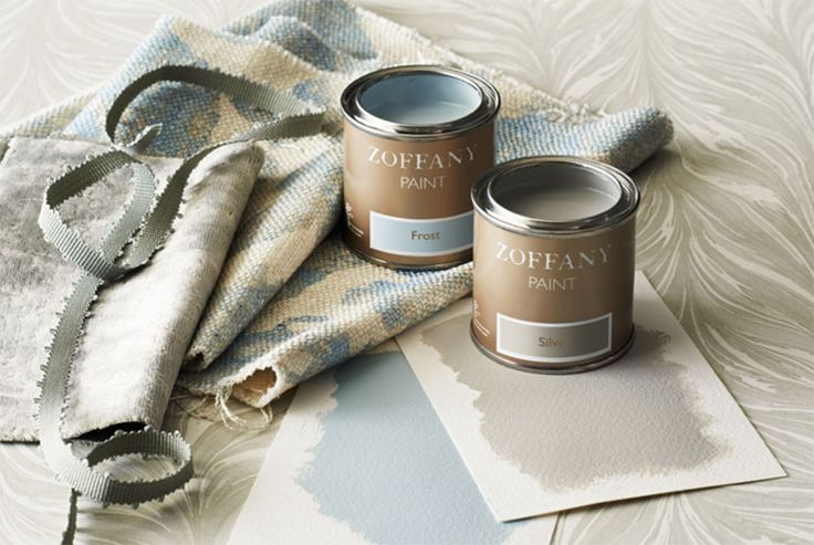 Zoffany paints- formulated to compliment and contrast the Zoffany wallpapers and fabrics.