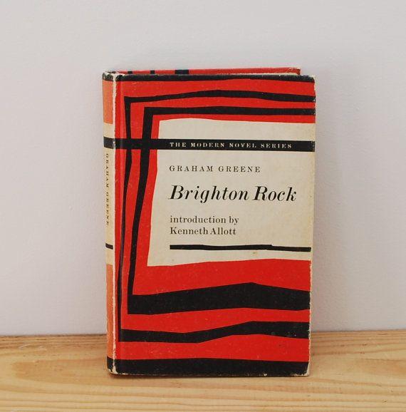 Brighton Rock by Graham Greene, vintage hardback, The Modern Novel Series 1960s