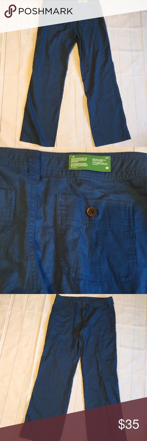 "Patagonia pants size 12 Patagonia pants size 12. New without tags. Drawstring in waist and buttons. 55% hemp 45% organic cotton. 32"" inseam 16"" waist laying flat 9.5"" rise. Blue in color. Comes from smoke free and pet free home Patagonia Pants Trousers"