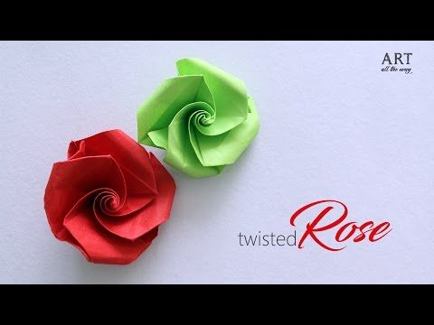How to make : Twisted Rose - YouTube