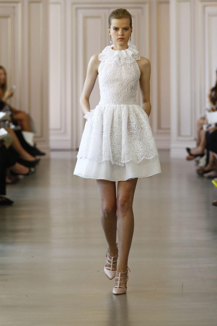 28 best short wedding dresses images on pinterest short wedding little white dress oscar de la renta spring bridal 16 ombrellifo Gallery