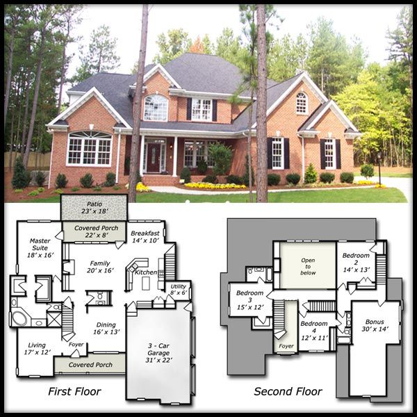 Best Dream Big Dream Beautiful Home Sweet Home Images On - Brick home floor plans