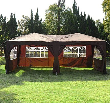 sommerværksted ---- Outsunny 6 x 3 m Garden Heavy Duty Waterproof Pop Up Gazebo 132 pund....