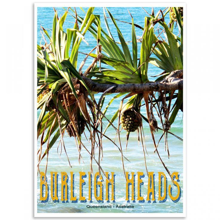 Queensland Poster - Burleigh Heads, Pandanus