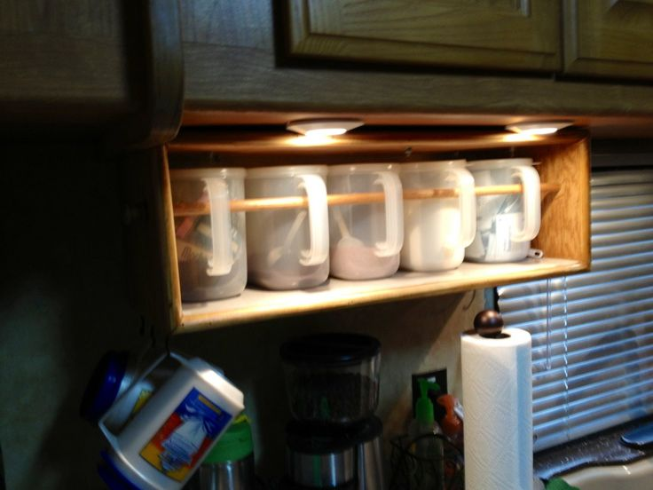 Could use for mugs cooking ingredients crafts etc rv for Camper storage