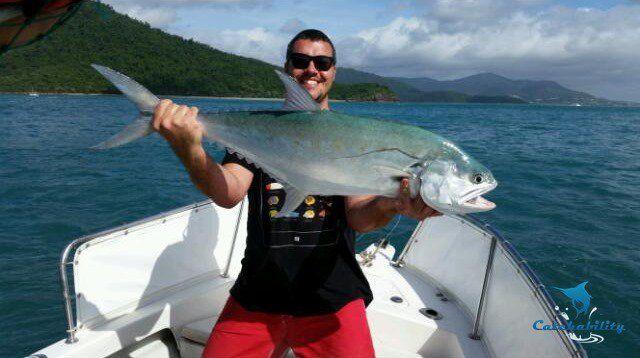 Giant queenfish caught by Ben Haynes