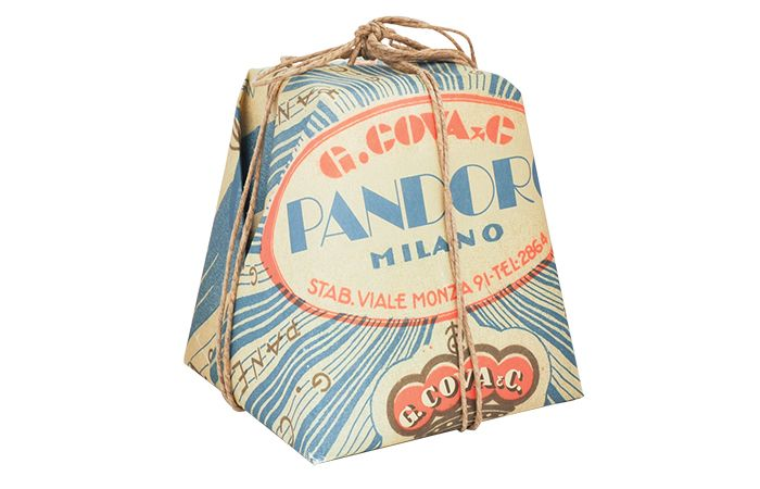 Panettone and Pandoro. Packaging for a type of sweet bread loaf originally from…