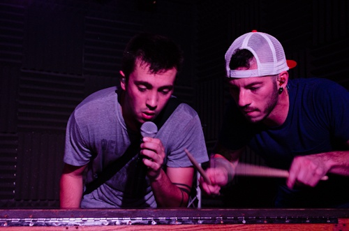 Tyler and Josh from their live show at Mount Saint Mary's University on October 20, 2012  Twenty One Pilots.