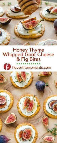 Honey Thyme Whipped Honey Thyme Whipped Goat Cheese and Fig...  Honey Thyme Whipped Honey Thyme Whipped Goat Cheese and Fig Bites are an elegant 5-ingredient appetizer that are perfect for entertaining! Flavor the Moments Recipe : http://www.itubeudecide.com/ And @ItsNutella  https://www.pinterest.co.uk/ItsNutella