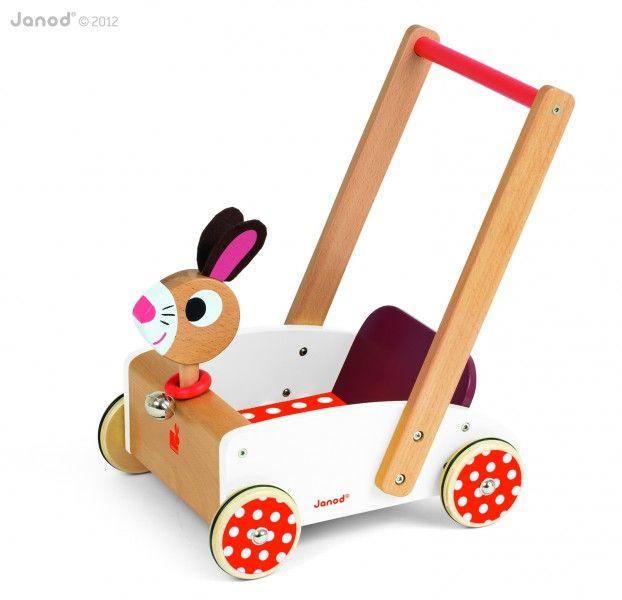 Wózek chodzik Janod - Szalony Królik