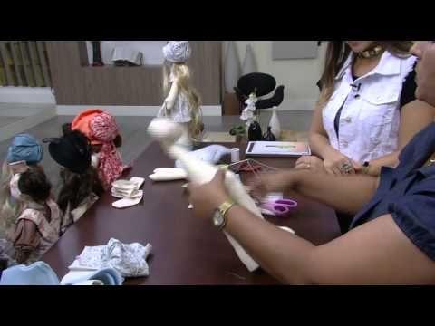 Vivi Prado ensina a fazer Boneca 3 em 1( Chapeuzinho Vermelho, vovó e lobo mau)