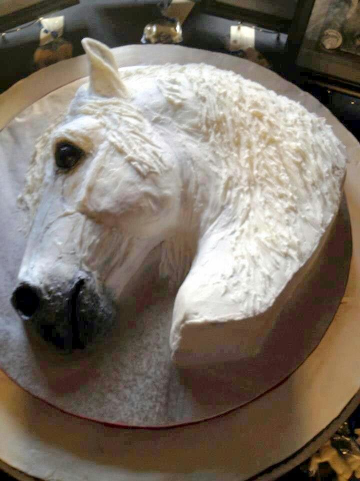 Amazing horse cake !!! It looks real!