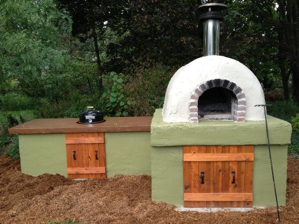 Several layers of Ceramic Fiber Blanket protect this awesome Wood Fired Brick Pizza Oven from the Cold Michigan winters!  Hot Wood Fired Pizza on a Cold day.. nothing is better!