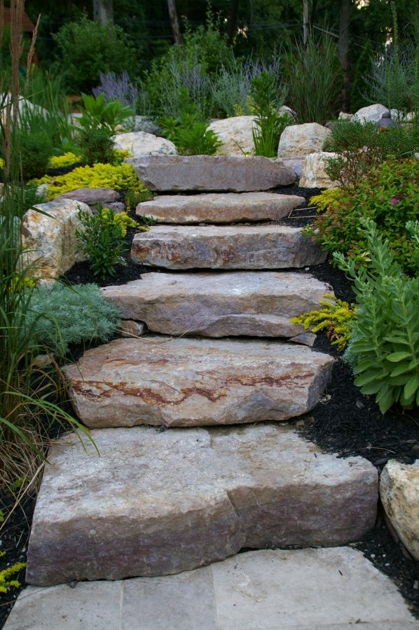 Landscape Design- rock stairs