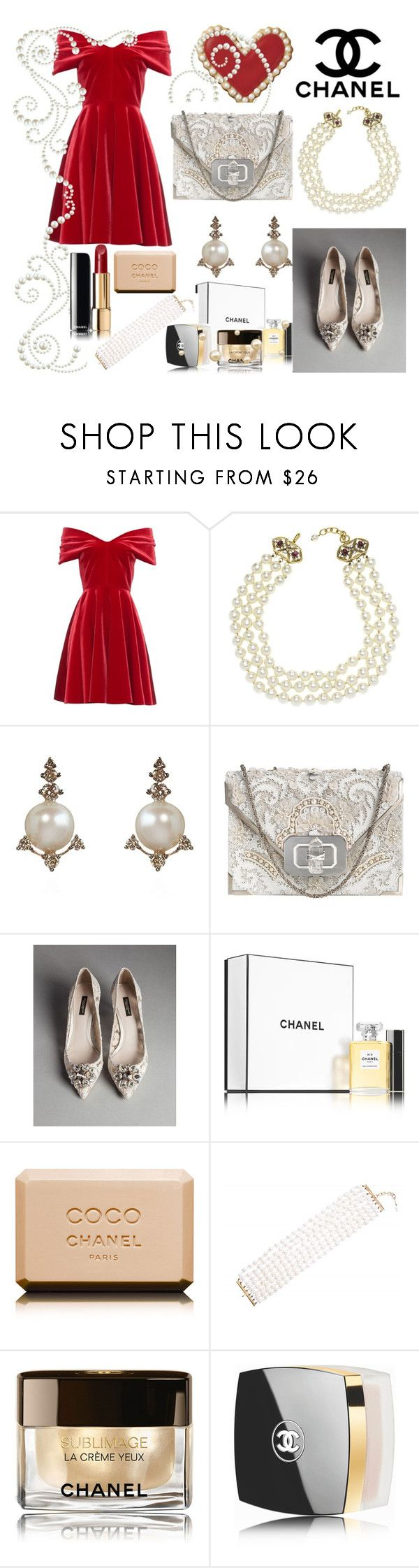 Untitled #183 by denisa-marcu on Polyvore featuring Emilio De La Morena, Dolce&Gabbana, Marchesa, Chanel and Annoushka