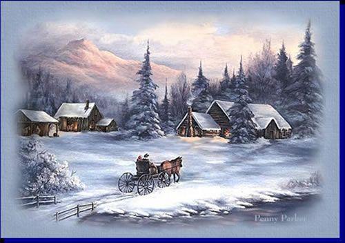 Weihnachtslandschaft GB Pics | porzellan landschaften | Pinterest ...
