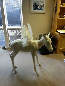 REAL Full Body Mount White pegasus unicorn unipeg horse Taxidermy display in Sporting Goods, Hunting, Taxidermy, Large Animals   eBay
