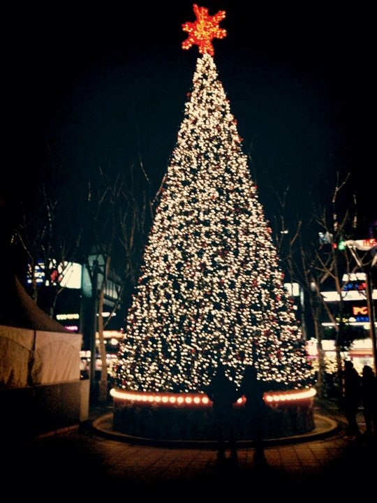 Christmas Tree At Lotte Department Store In Seoul South Korea Pinterest