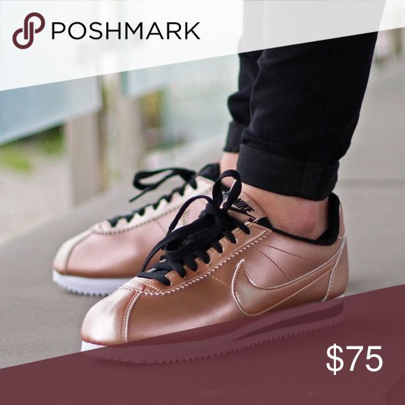 Nike Cortez rose gold Nike Cortez rose gold in good condition with the exception of a scuff mark but other than that they are fine have been worn size 7 without box. All offers are considered will post pictures of actual soon Nike Shoes Athletic Shoes