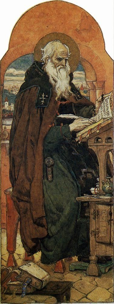 Nestor the Chronicler  - Viktor Vasnetsov