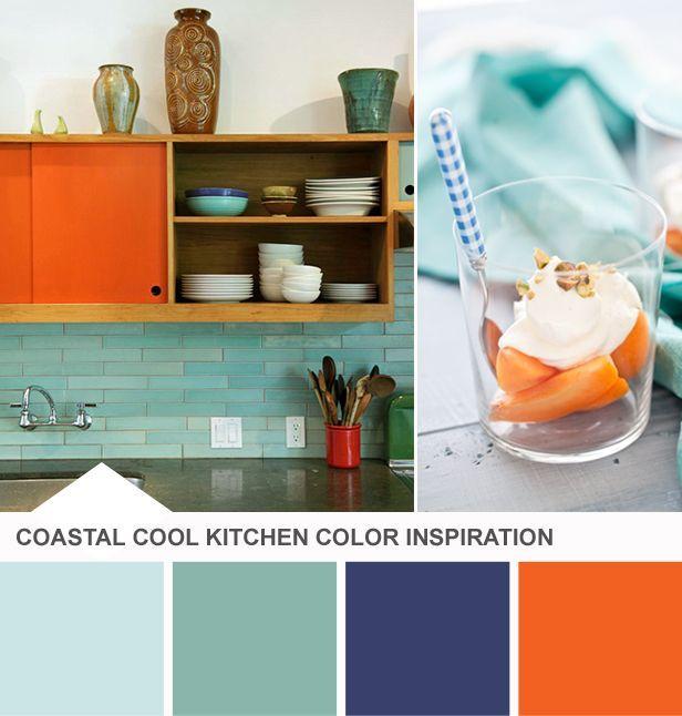 Kitchen Paint Palette: Best 10+ Blue Orange Kitchen Ideas On Pinterest