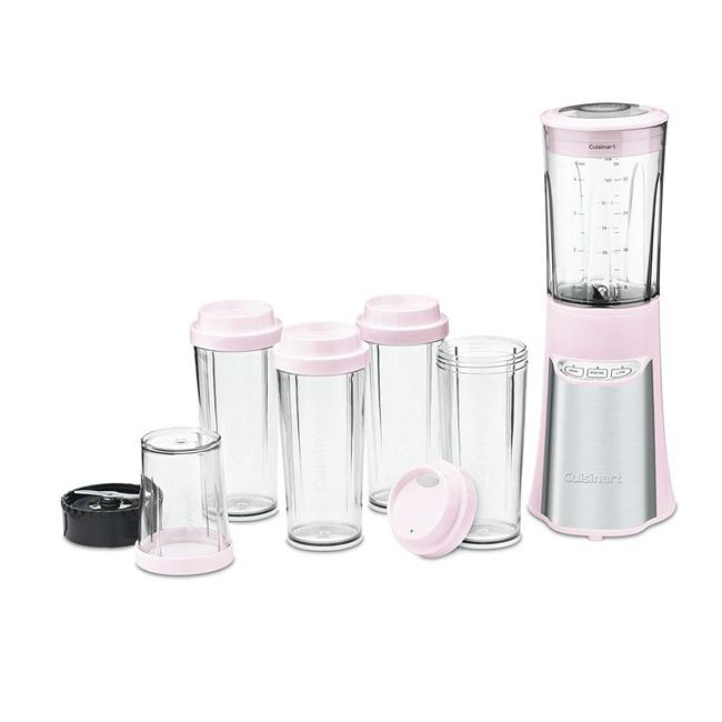 Designed to fit anywhere, the Cuisinart portable blender delivers big blender performance with a 350-watt motor and the ease of a single-hand operation with the user-friendly electronic key pad. Stainless steel accents boost any kitchen decor.