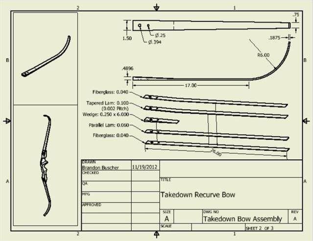 takedown recurve bow part 2 - limbs